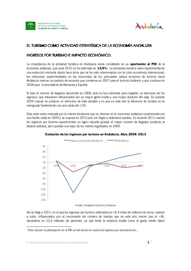 _ EL TURISMO COMO ACTIVIDAD ESTRATÉGICA DE LA ECONOMÍA ANDALUZA 1|17 Empresa Pública para la Gestión del Turismo y del Dep...
