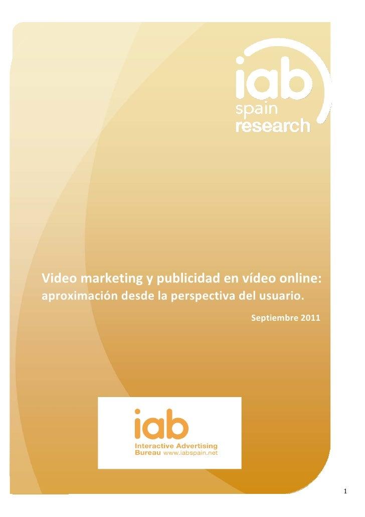 Video marketing y publicidad en vídeo online: una aproximación desde la perspectiva del usuario