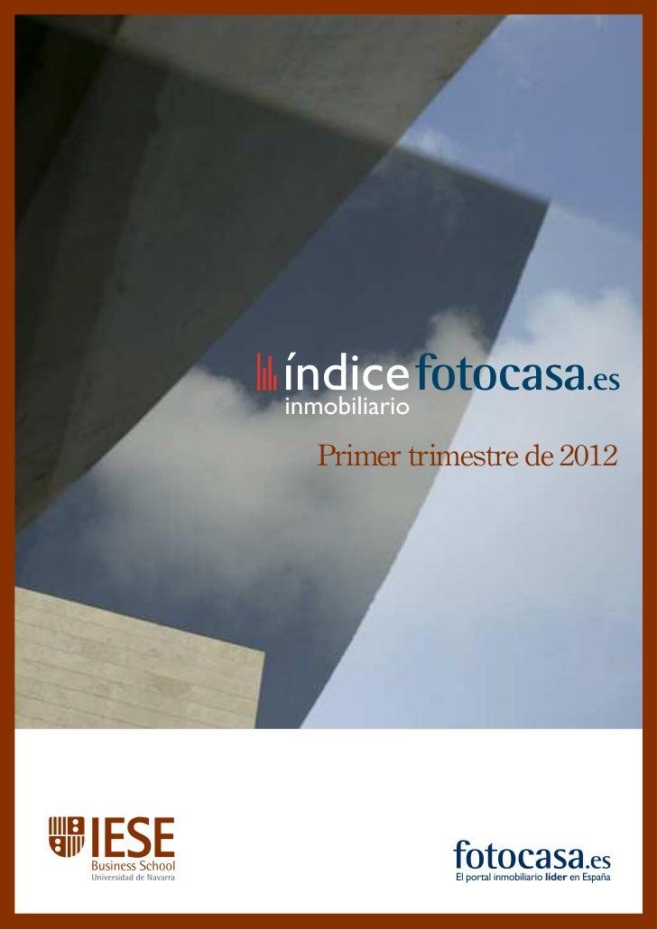Informe: La vivienda en venta en España (Primer trimestre de 2012)