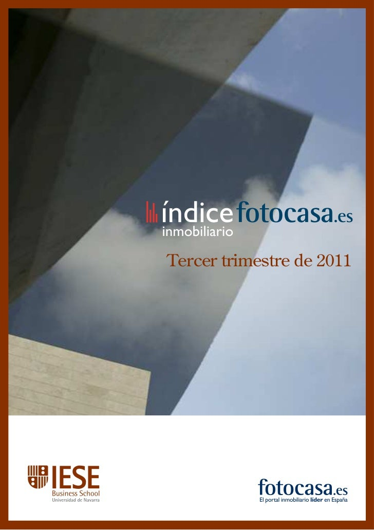 Índice fotocasa - La vivienda en venta en España (3er.  trimestre)