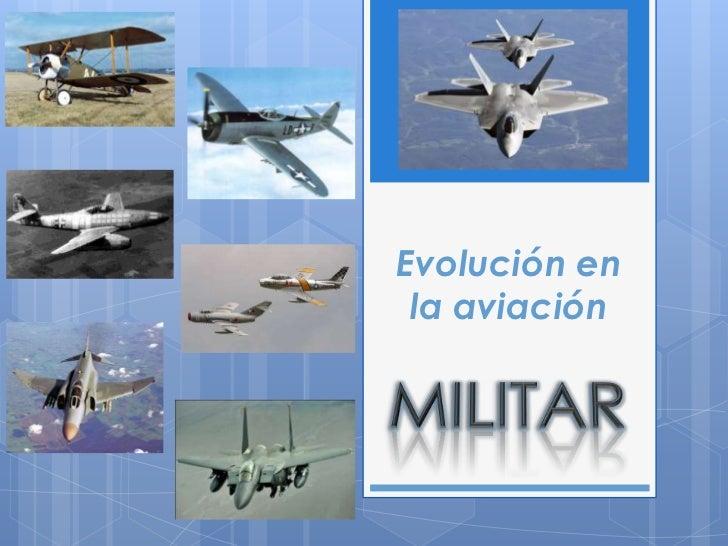 Evolución en la aviación