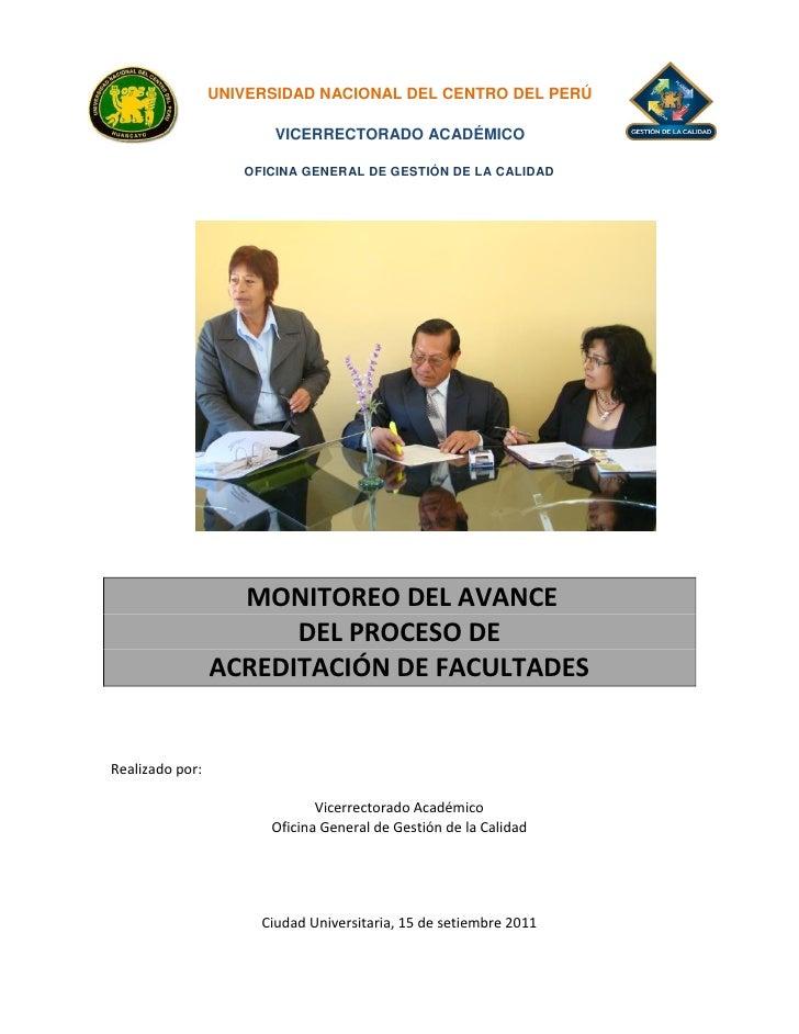 UNIVERSIDAD NACIONAL DEL CENTRO DEL PERÚ                        VICERRECTORADO ACADÉMICO                    OFICINA GENERA...