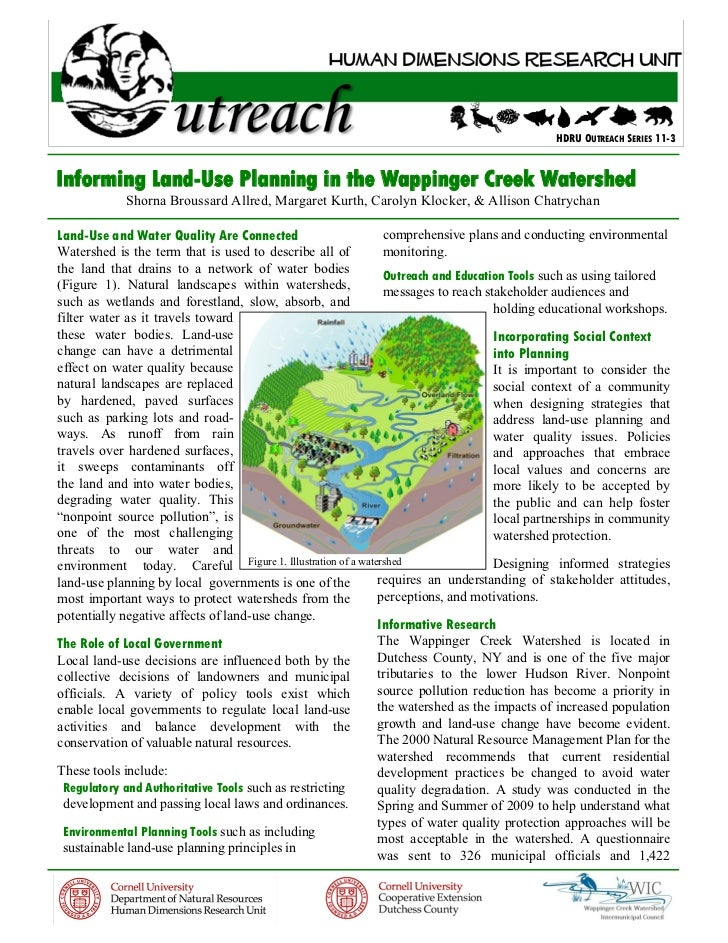 HDRU OUTREACH SERIES 11-3Informing Land-Use Planning in the Wappinger Creek Watershed            Shorna Broussard Allred, ...