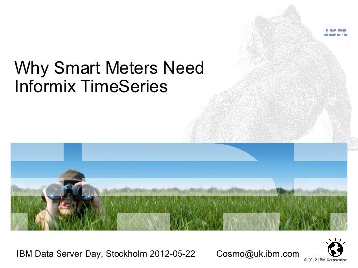 Why Smart Meters Need Informix TimeSeries