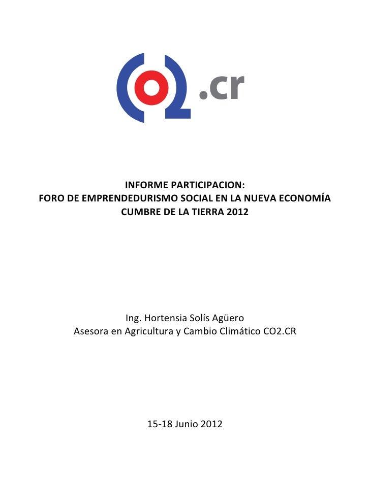 Informe de CO2 sobre Participación en Río+20