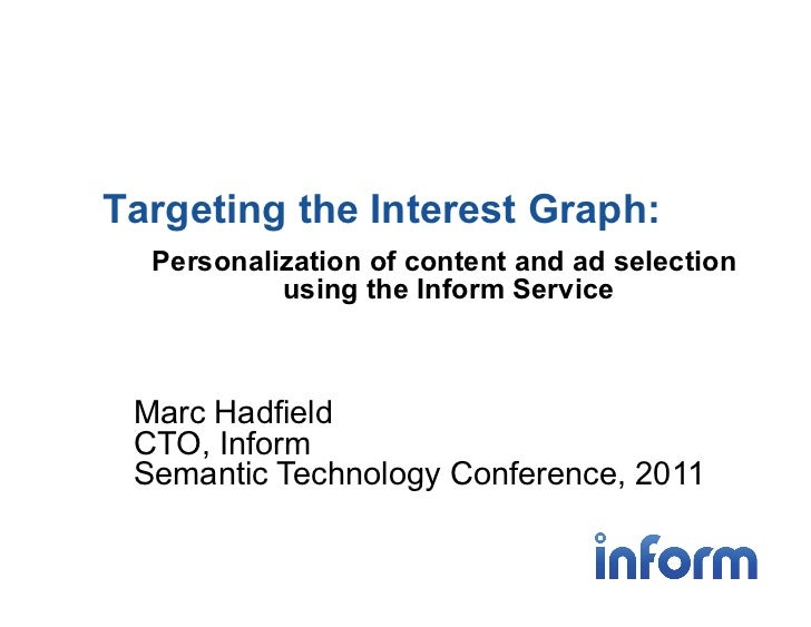 Targeting the Interest Graph:  Personalization of content and ad selection           using the Inform Service Marc Hadfiel...