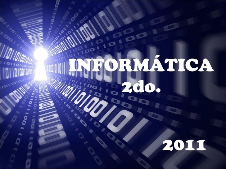 Informática 2do. Año