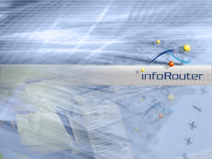 Inforouterproducttour V7