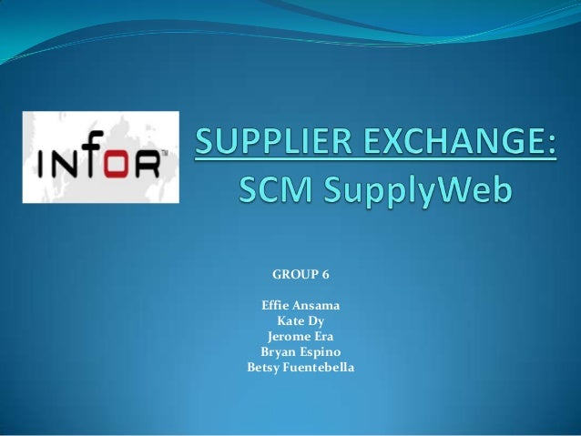 Infor supplier exchange