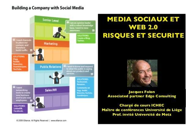 MEDIA SOCIAUX ETWEB 2.0 RISQUES ET SECURITE	SOURCE: http://ictkm.files.wordpress.com/2009/07/social-media-bandwagon1.jpg 	J...