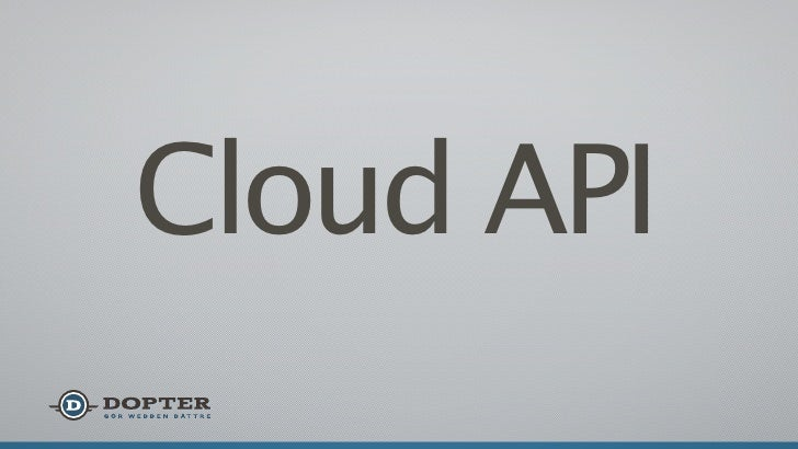 Cloud API introduction from Infosec 2012