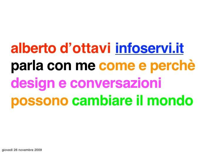 Infoservi - Parla Con Me: Design e Conversazioni - Webdesign International Festival