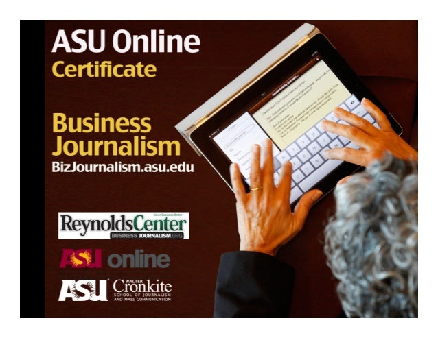 Info Session: Online Graduate Certificate in Business Journalism at Arizona State University