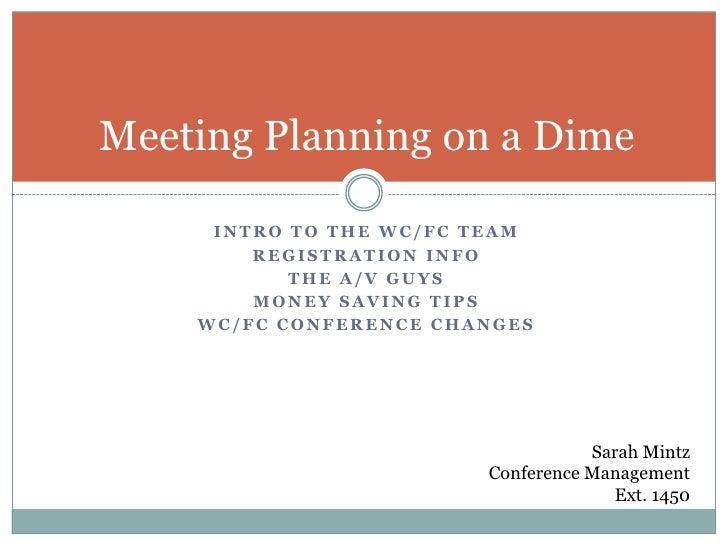 Meeting Planning