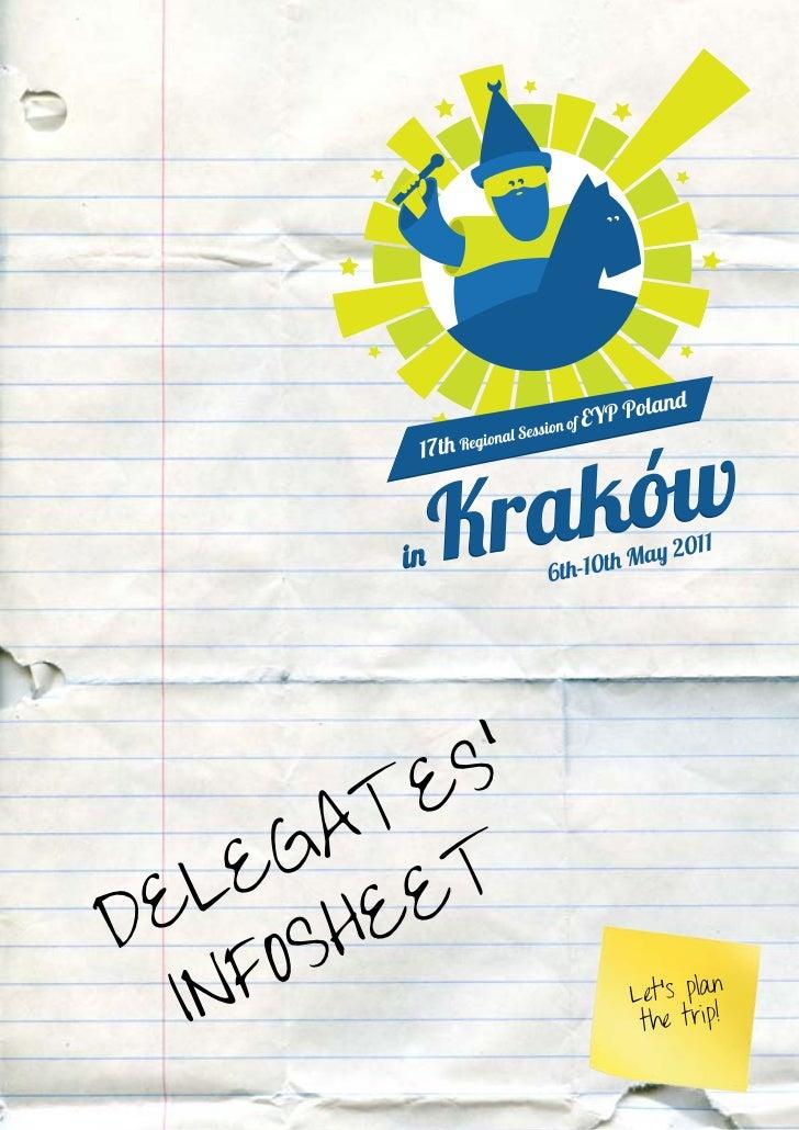 Infosheet Krakow for delegates