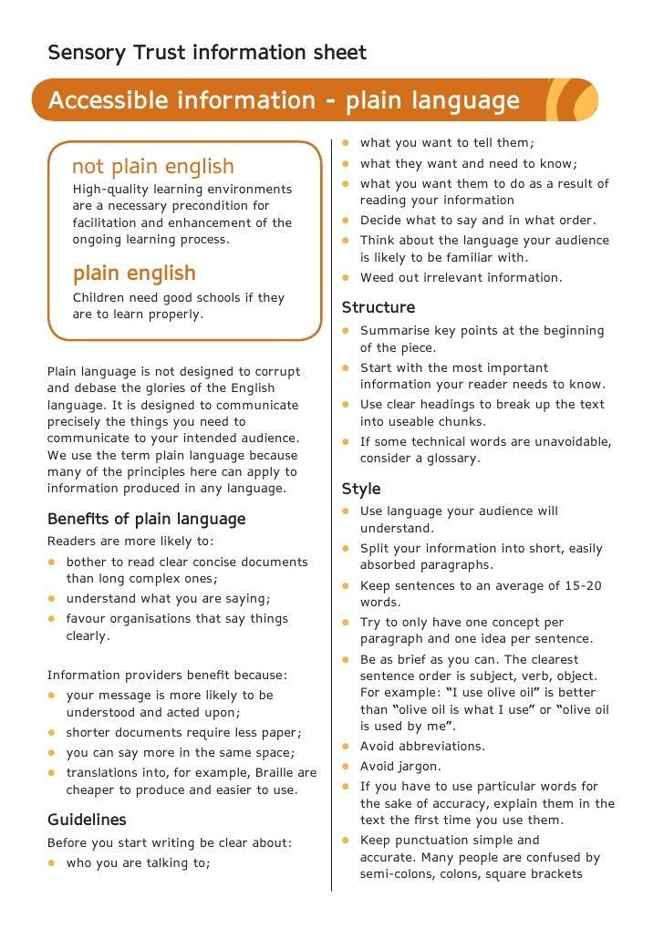 Plain Language - Sensory Therapy Gardens Fact Sheet
