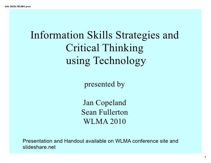 Information Skills Strategies & Technology