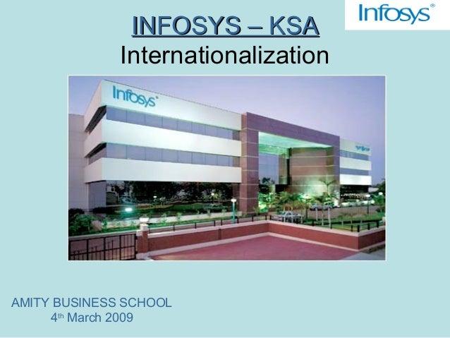 INFOSYS – KSAINFOSYS – KSA Internationalization AMITY BUSINESS SCHOOL 4th March 2009