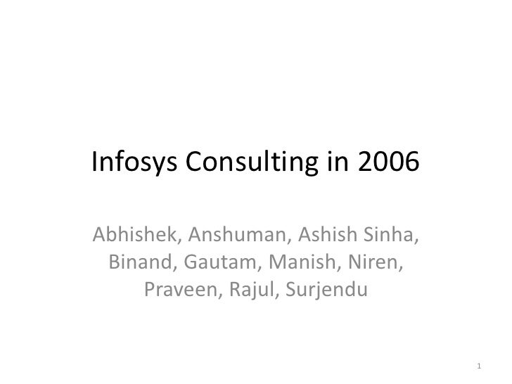 Infosys  Consulting    Strategy
