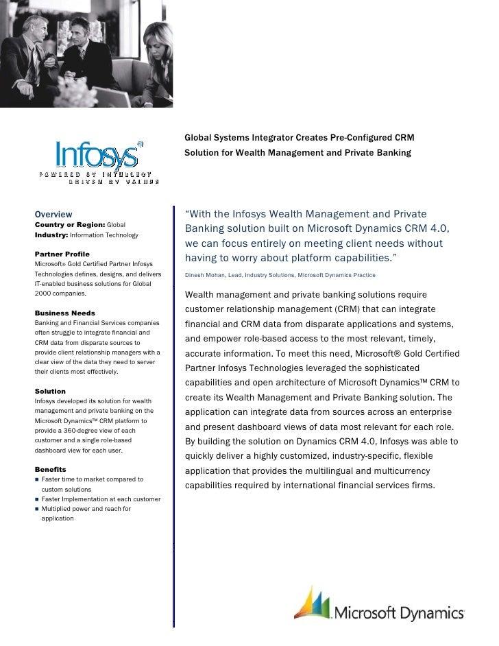 Microsoft India - Infosys Technologies Case Study