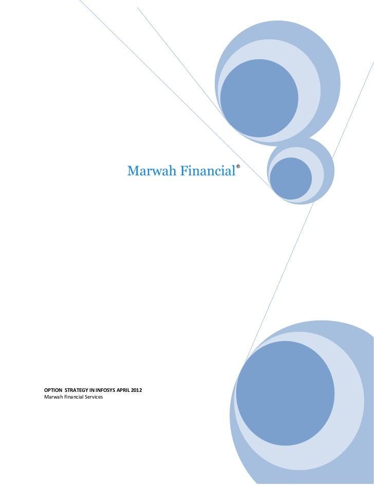 Infosys option strategy, April 2012