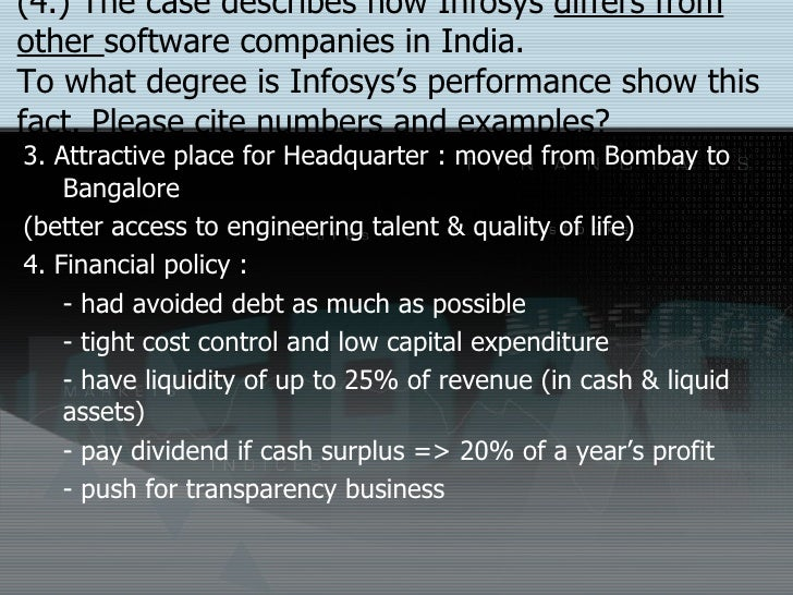 how infosys differs from other software Software services how much does  infosys limited employees with the job title partner,  as for the other 63 percent, our r.
