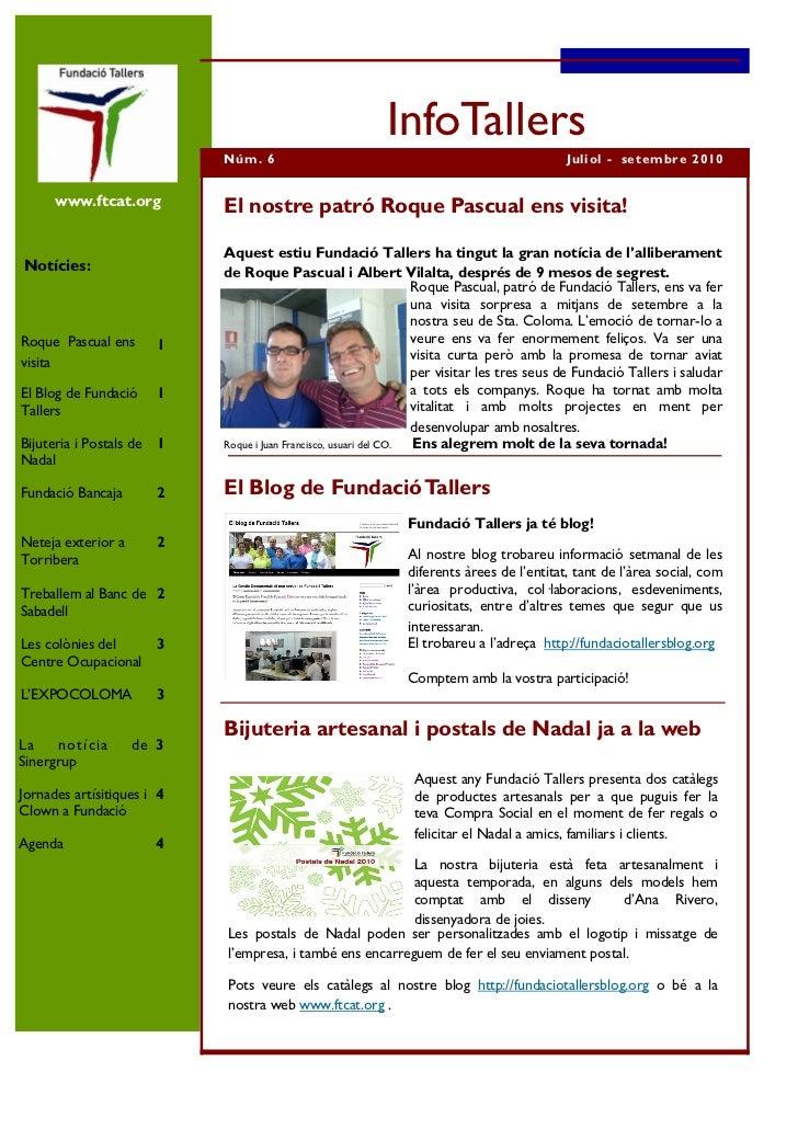 InfoTallers nº 6 català