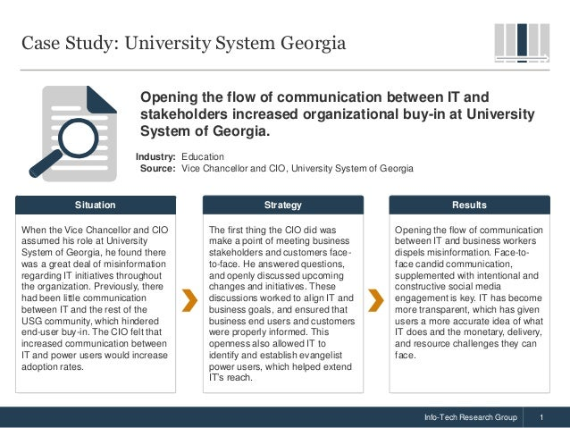 case study regarding communication in the organization