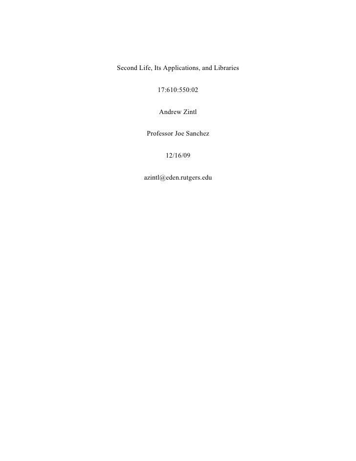 Info Tech Final Paper