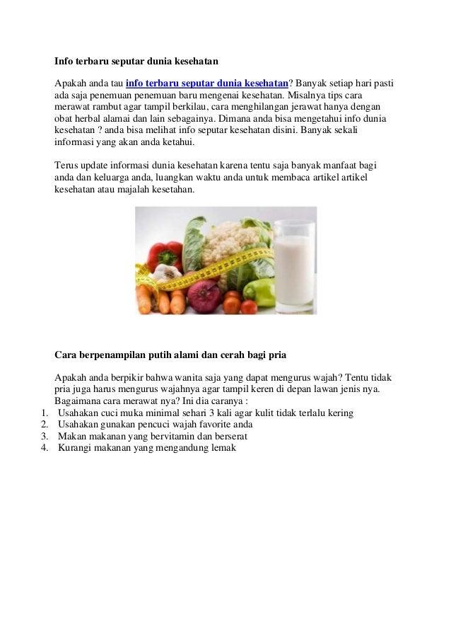 Info terbaru seputar dunia kesehatan