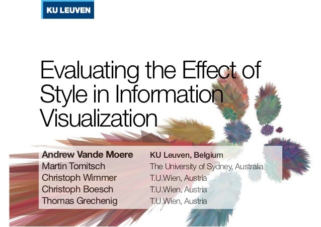 Evaluating the Effect of Style in Information Visualization