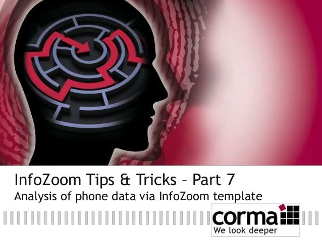 InfoZoom Tips & Tricks – Part 7: Analysis of phone data via InfoZoom template