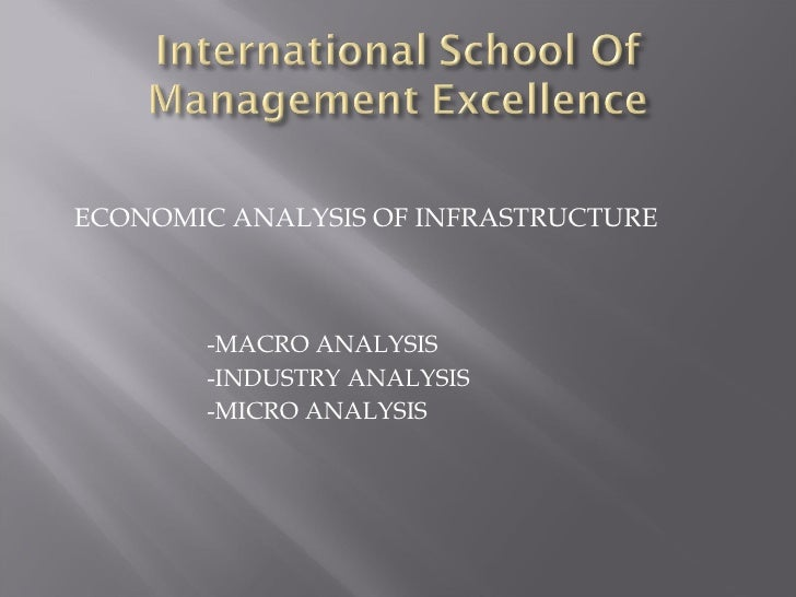 Economic Analysis Of Infrastructure Of INDIA