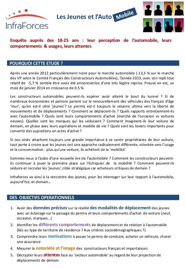 Les Jeunes et l'Auto Après une année 2012 particulièrement noire pour le marché automobile (-13,3 % sur le marché des V...