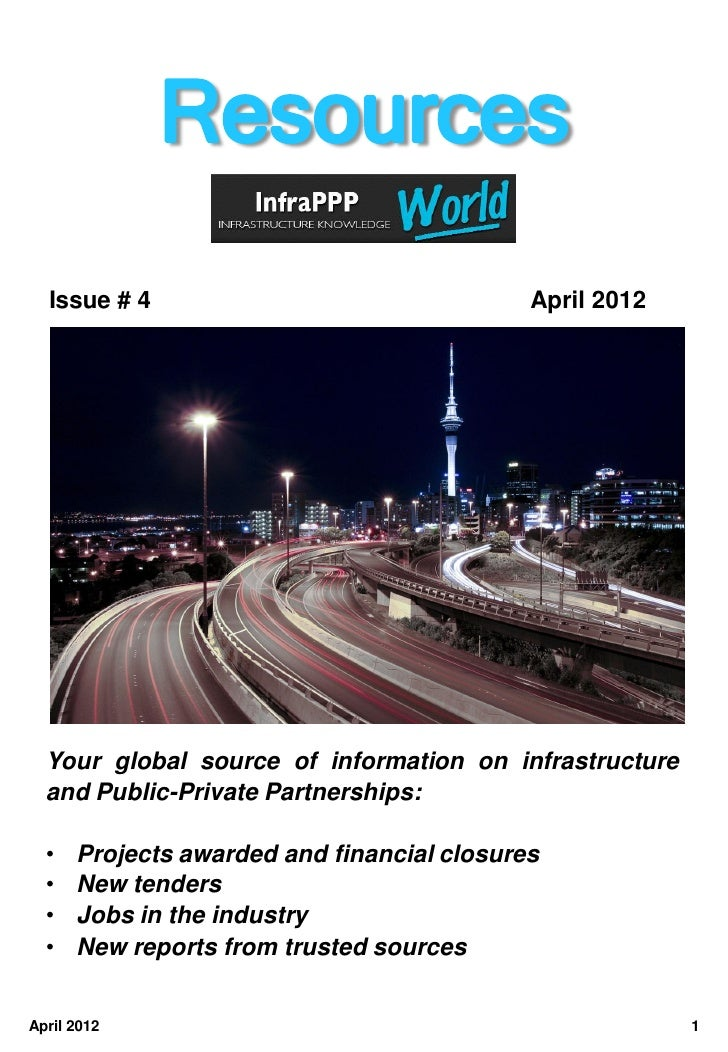 Infra ppp resources april 2012