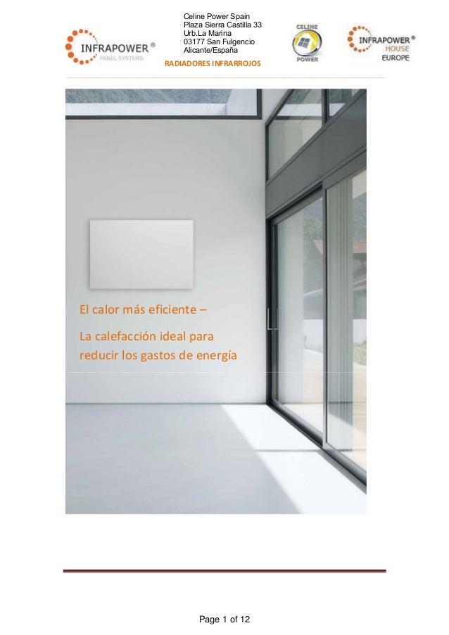 Infrarrojo calefacciones catalogo español