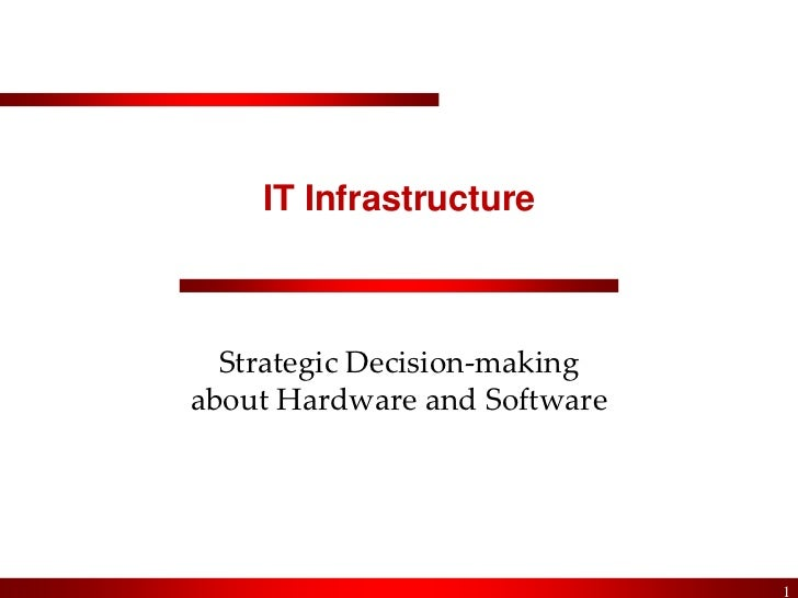 IT Infrastructure<br />Strategic Decision-makingabout Hardware and Software<br />