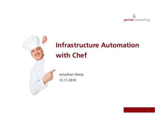 Infrastructure Automation with Chef Jonathan Weiss 12.11.2010 1