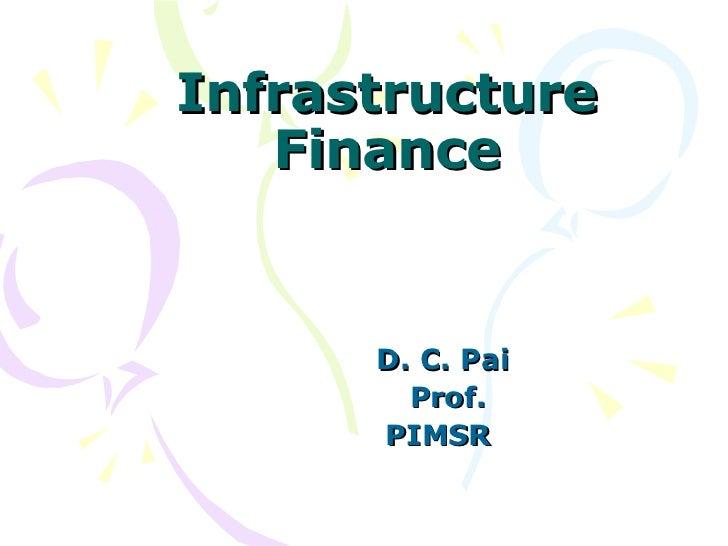 Infrastructure finance nibm