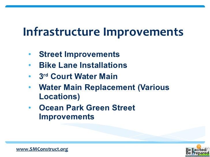 <ul><li>Street Improvements </li></ul><ul><li>Bike Lane Installations </li></ul><ul><li>3 rd  Court Water Main </li></ul><...