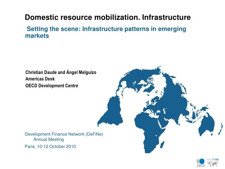 Domestic resource mobilization. Infrastructure Setting the scene: Infrastructure patterns in emerging markets     Christia...