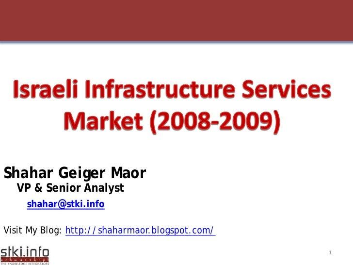 Infrastructure Services  Market 2009