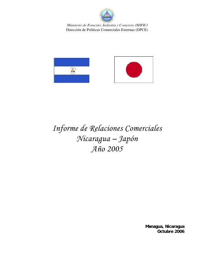 Ministerio de Fomento, Industria y Comercio (MIFIC)     Dirección de Políticas Comerciales Externas (DPCE)     Informe de ...