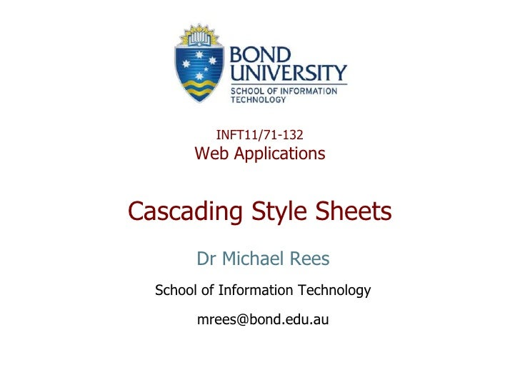 INFT132 093 05 Cascading Style Sheets