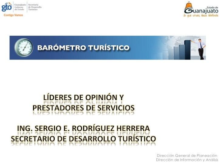 Dirección General de PlaneaciónDirección de Información y Análisis