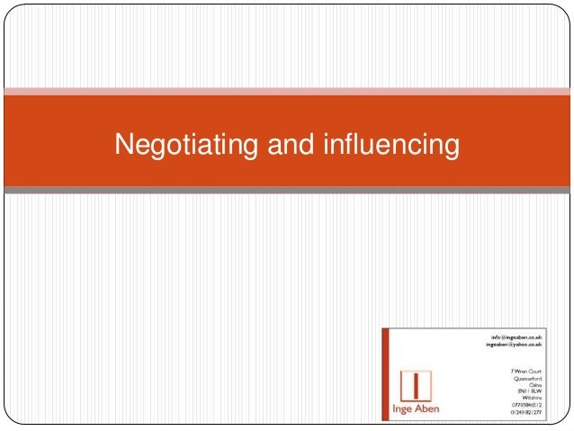 Inge Aben: Influencing and Negotiating