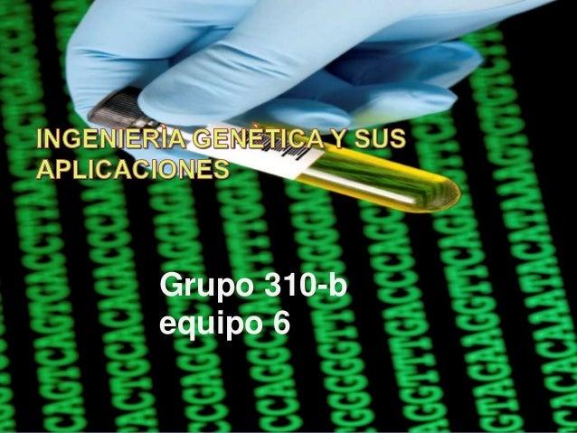 Ingenierìa genètica y sus aplicaciones