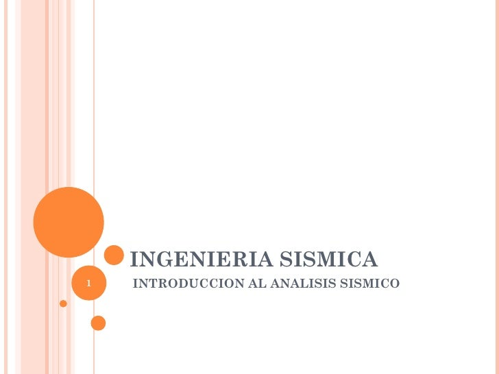 Ingenieria sismica introduccion
