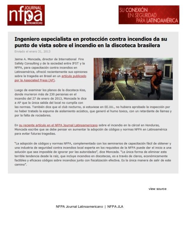 Ingeniero especialista en protección contra incendios da su punto de vista sobre el incendio en la discoteca brasilera