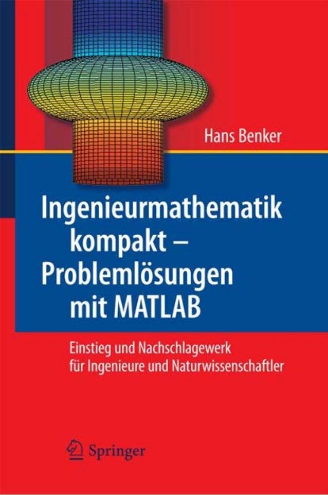 Ingenieurmathematik kompakt – Problemlösungen  mit MATLAB